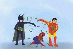 Qual a legenda? 6 – Batman, Homem de Ferro e Homem-Aranha