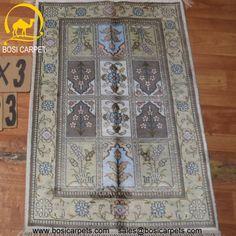 Hand knotted silk rug # Rug No.: P4258 # Quality: 150L (156kpsi) # Size: 2x3ft (61x91cm) # Material: 100% Silk # wholesale Price: $96/piece # If you have any interests, please email to sales@bosicarpets.com        Hand-madecarpet#orienatlrug#oldrug#Kashmirrug#Chinacarpet#Iraniancarpet#boteh#HeratiGul# Isfahan#Tabriz#Qum#Nain#Kashan#Kerman#Bijar#Sarouk#Caucasian#antiquecarpet#bosicarpet