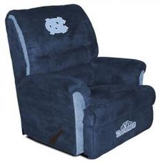 North Carolina Tarheels Big Daddy Reclining Chair w Easy to Operate Handle - My Husbands DREAM chair LOL