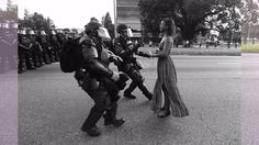Ieshia Evans became an icon of the Black Lives Matter movement after this incredible image of her went viral. It was taken as she protested in Baton Rouge against police killings of unarmed black men. As part of the BBC's 100 Women season she tells the story behind the iconic image...