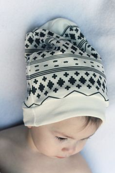 ORGANIC Baby Slouchy Beanie Hat www.ScarlettBaby.ca #hipsterbaby