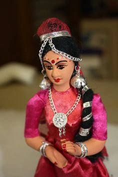 Vintage Composition Dancing Doll from India by collectiblejewels, $25.00