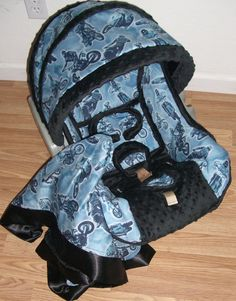 Boy motocross blue car seat cover graco by ohsewdarlingcustoms, $139.00
