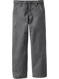 Boys Plain Front Uniform Khakis