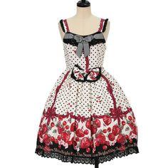 BABY, THE STARS SHINE BRIGHT ☆ ·. . · ° ☆ strawberry milk of Strawberry Days pattern ribbon JSK + comb https://www.wunderwelt.jp/en/products/%EF%BD%97-14317  ☆ ·.. · ° ☆ How to order ☆ ·.. · ° ☆ http://www.wunderwelt.jp/user_data/shoppingguide-eng ☆ ·.. · ☆ Japanese Vintage Lolita clothing shop Wunderwelt ☆ ·.. · ☆