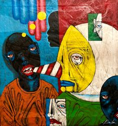 Untitled by Michael Banks Michael Banks, Atlanta Art, Outsider Art, Make Art, Black Art, Contemporary Artists, Art Museum, Framed Art, Folk Art