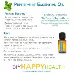 #Peppermint #DoTerra #diyHappyHealth #Essential #oil