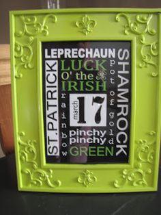 Sustainably Chic Designs: St Patricks Day Decor...Dollar Tree Style!