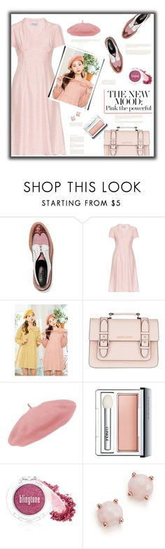 """""""Pink the Powerful"""" by fassionista ❤ liked on Polyvore featuring Robert Clergerie, HVN, Armani Jeans, Clinique, myface cosmetics and Ippolita"""