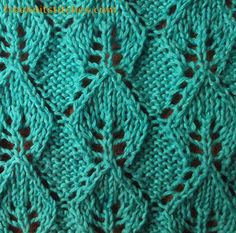 Necklace knitting stitches leaf lace knit pattern