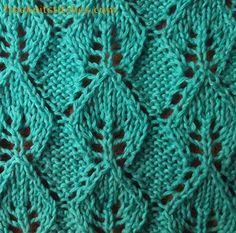Necklace knitting stitches leaf lace knit pattern