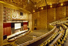 Public tours of the Paramount Theatre are given on the first and third Saturdays of each month, excluding holidays and holiday weekends. No reservations are necessary. Tours begin promptly at 10:00 am at the Box Office entrance on 21st Street near Broadway. The tour lasts about 2 hours and provides a full and informative view of the Theatre. Cameras are allowed. Admission is $5.00 per person.