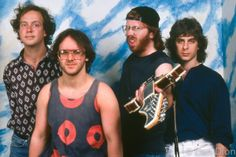 Portrait of the band Phish in 1994 at the Warfield Theater, San Francisco. © Dan Dion