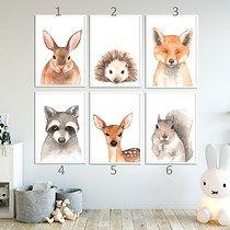 Plakat z akwarelowym zwierzakiem A4 - wybierz, Well Well