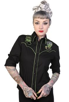 Frankie women's shirt by Banned. http://tmblr.co/ZPNP8u1MtrNf3  http://www.facebook.com/goreydetails http://twitter.com/GoreyDetails