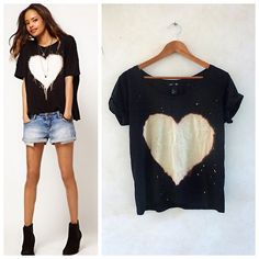 DIY ASOS Inspired Beached Heart Tee Shirt from Hey! Look What I...
