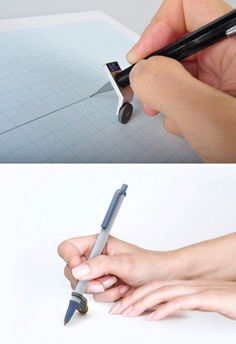 If you have ever drafted by hand for work or pleasure, you know that straight lines are hard to sketch or trace by pen or pencil without something as your guide – and laying down the ruler, triangle or square each time takes, well, time. What if you could just snap something onto your drawing tool instead?