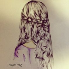 drawings of girls with flowers in the hair - Google Search