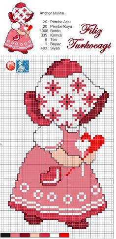 Isınma turlarımıza küçük desenlerle başlayalım. Bonnet kızları çok tatlı oluyorlar, ben de çalıştım :)) Umarım seversiniz...Designed by Filiz Türkocağı...
