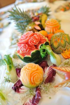 Use food as decoration? Effiel Tower made out of fruit? search pinterest