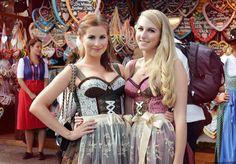 Anja und Eileen von #Stylejunction - Styling für die #Wiesn 2014 mit #Dirndl von ENA Trachten