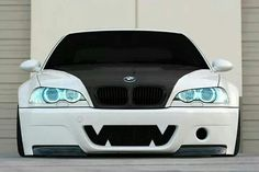 BMW E46 3 series slammed black & white shark