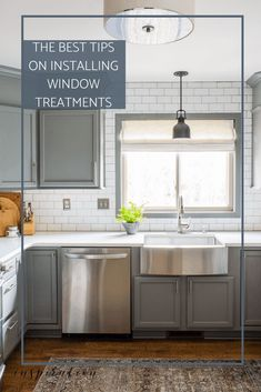 Learn how to install window treatments before you buy. I'm sharing all my best tips, including four mistakes you'll want to avoid! #windowtreatments #kitchenromanshade #Curtains