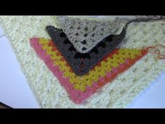 Haken - tutorial: granny omslagdoek - YouTube