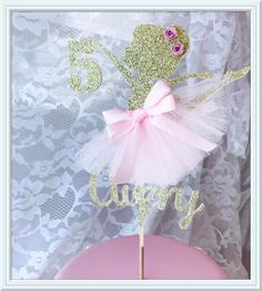 Ballerina torta Topper  Ballerina  Ballerina partito Decor  di MemoryKeepsakeParty | Etsy
