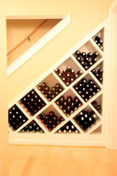 under stairs wine rack - Google Search