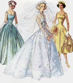 Bridal pattern, early 1960s
