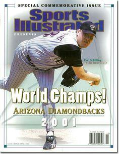 On the Cover: Curt Schilling, Baseball, Arizona Diamondbacks  Photographed by: Chuck Solomon / SI