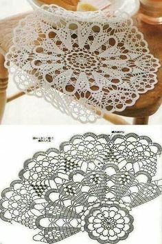 Crochet doily with chart