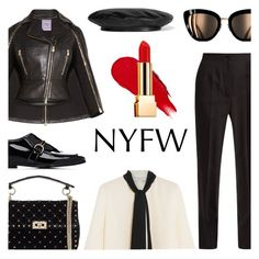 """""""NYFW"""" by keepfashion92 ❤ liked on Polyvore featuring Valentino, Dolce&Gabbana, STELLA McCARTNEY, Hervé Léger, Lanvin, Gucci, Rodin and Yves Saint Laurent"""