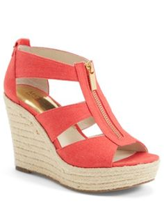 pretty Michael Kors watermelon orange wedges