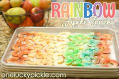 St. Patrick's Day Food: Rainbow Apple Snacks