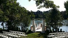 Lakeside ceremony at the pier