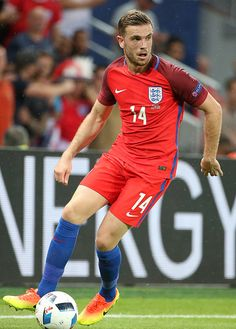 Jordan Henderson of England in action during the UEFA EURO 2016 Group B match between Slovakia and England at Stade GeoffroyGuichard on June 20 Uefa European Championship, European Championships, England International, Uefa Euro 2016, 2016 Pictures, England Football, National Football Teams, World Football, Football Players