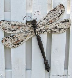 table leg dragonfly with layered paint wings