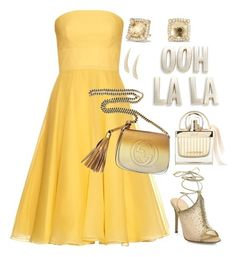 """yellow and gold"" by sunnydays4everkh ❤ liked on Polyvore featuring Alexander McQueen, Kate Spade, Gianvito Rossi, Gucci, David Yurman and Carbon & Hyde"