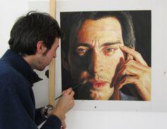 Davide Ricchetti painting a self portrait