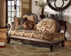 https://www.theclassyhome.comCatania Dark Cherry Solid Wood Imported Fabric Removable Back Chaise