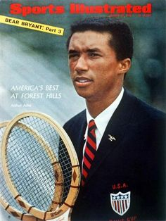 """Arthur Ashe _ """"if i were to be asked, what kind of a man do you fancy as your husband? My answer each time for years on has been, Arthur Ashe"""". And so it has remained.  #arthurashe #tennis #sports"""