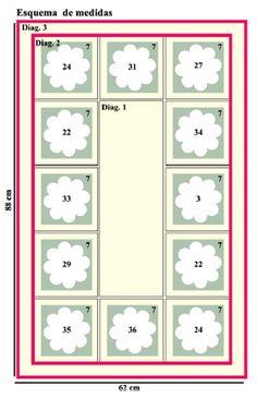 Material: 1 EuroRoma Milano 200g 4/6 1 de EuroRoma Milano 200g 4/6 1 EuroRoma 415m 4/8 Agulha de Crochê 3,5mm e 4,0mm Hoje é dia de aprender este maravilhoso tapete de crochê com detalhes que mais parecem lindos botões de rosa. Estamos simplesmente apaixonados por esta combinação de cores, a