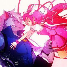 wolfrun and miyuki Glitter Lucky, Smile Pretty Cure, Best Villains, Glitter Force, Magical Girl, Furry Art, Love Art, Anime Couples, Anime Art