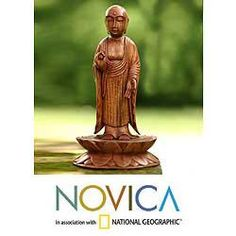 Suar Wood 'A Simple and True Life' Statuette (Indonesia) | Overstock™ Shopping - Big Discounts on Novica Statues & Sculptures
