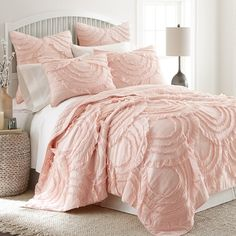Levtex Home Layla Blush King Quilt Set - Quilts & Bedspreads - Bed & Bath - Macy's Bedding Master Bedroom, Home Decor Bedroom, Bedroom Ideas, Warm Bedroom, King Quilt Sets, Queen Quilt, Sophisticated Bedroom, Shabby Chic Bedrooms, Cozy Bed
