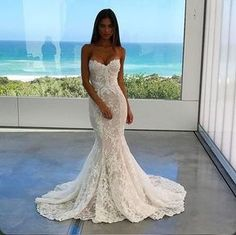 Mermaid wedding dress: the 50 are the most beautiful - wedding dresses- ladies fashion.de - wedding dress mermaid wedding dress: The 50 are the most beautiful Best Picture For fashion inspo - Wedding Dress Mermaid Lace, Mermaid Dresses, Bridal Lace, Dream Wedding Dresses, Bridal Dresses, Wedding Gowns, Prom Dresses, Dress Lace, Wedding Dress Trumpet