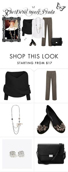The Devil Wears Prada by michellecraig on Polyvore featuring Alice + Olivia, Oasis, Aspinal of London, Aéropostale, Maria Corcuera and Prada