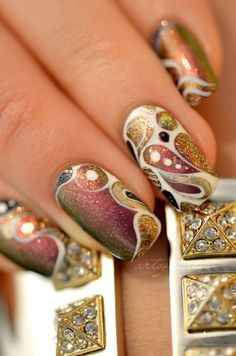 nail art... Ah WOW For more beauty, makeup, and nail art tips and ideas visit www.sparkofallure.com